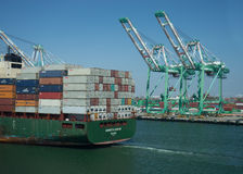 Augusta Kontor at The Port of Los Angeles Stock Photography