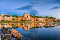 Augusta, Maine, de Horizon van de V.S. Stock Foto's
