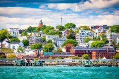 Augusta, Maine linia horyzontu fotografia royalty free