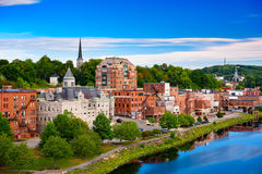 Augusta Maine Skyline. Augusta, Maine, USA skyline on the river Royalty Free Stock Photography