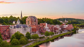 Augusta, Maine, USA stock video footage