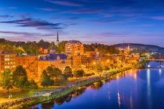 Augusta Maine, USA horisont royaltyfri foto