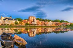 Augusta, Maine, USA-Skyline Stockfotos
