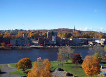 Augusta ME Waterfront in Autumn. Augusta, Maine waterfront in autumn Royalty Free Stock Photos