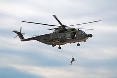 Augusta Navy Helicopter Royalty Free Stock Photo
