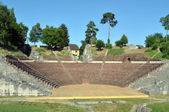 Augusta Raurica Roman theatre. The Roman theatre of Augusta Raurica (near Basel royalty free stock photography