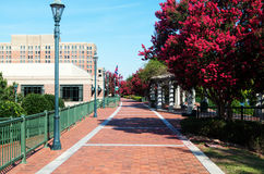 Augusta Riverwalk. In the summer time stock photo