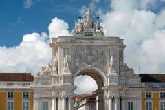 Augusta Rua in Lisbon, Portugal Royalty Free Stock Photo