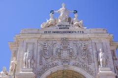 Augusta-Straßenbogen in Lissabon rief ACRO DA Rua Augusta an Lizenzfreie Stockfotografie