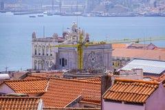 Augusta-Straßenbogen in Lissabon rief ACRO DA Rua Augusta - LISSABON - PORTUGAL - 17. Juni 2017 an Lizenzfreie Stockbilder