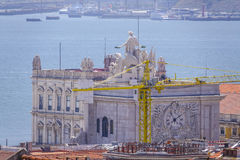 Augusta-Straßenbogen in Lissabon rief ACRO DA Rua Augusta - LISSABON - PORTUGAL - 17. Juni 2017 an Lizenzfreies Stockbild