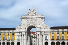 Augusta street arch, Lisbon, Portugal Stock Image