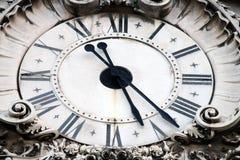 Augusta street clock, Lisbon, Portugal Stock Image