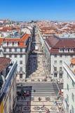 Augusta Street, Lisbon Royalty Free Stock Image