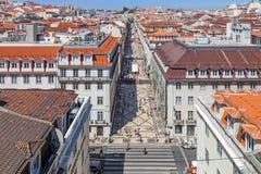 Augusta Street, Lisbon Stock Images