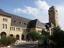 Augusta Victoria sjukhus Jerusalem Arkivbild