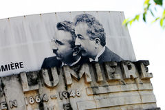 Auguste en Louis Lumiere Stock Foto's