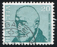 Auguste Forel. SWITZERLAND - CIRCA 1971: stamp printed by Switzerland, shows Auguste Forel, circa 1971 Stock Photography