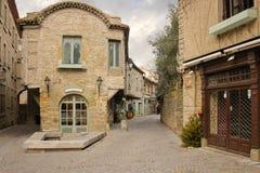 Auguste Pierre Pont fyrkant Carcassonne france royaltyfri foto