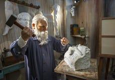 Auguste Rene Rodin Wax Figure Stock Images