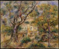 Auguste Renoir - το αγρόκτημα σε Les Collettes, Cagnes στοκ φωτογραφίες