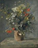 Auguste Renoir - bloemen in een Vaas stock afbeeldingen