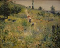 Auguste Renoir - chemin fotografia stock
