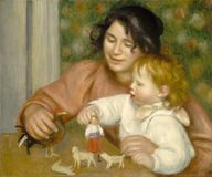 Auguste Renoir -child With Toys - Gabrielle And The Artist S Son royalty free stock photo