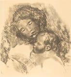 Auguste Renoir - de maternidade imagem de stock
