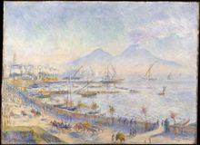 Auguste Renoir - die Bucht von Neapel lizenzfreies stockfoto