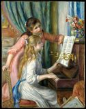 Auguste Renoir - duas moças no piano fotos de stock