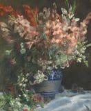 Auguste Renoir - gladioli in een Vaas royalty-vrije stock afbeeldingen