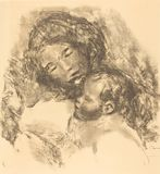 Auguste Renoir - macierzyński obraz stock