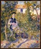 Auguste Renoir - nini в nini Lopez сада стоковая фотография rf