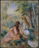 Auguste Renoir - no prado fotografia de stock