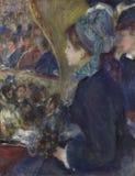 Auguste Renoir - no teatro fotografia de stock royalty free