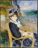 Auguste Renoir - pelo litoral imagens de stock royalty free