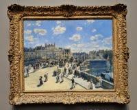 Auguste Renoir Pont Neuf France-Impressionist het schilderen stock foto's