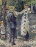 Auguste Renoir - the_swing imagem de stock