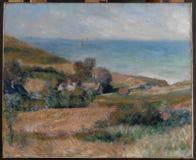 Auguste Renoir - vista do Seacoast perto de Wargemont em Normandy imagens de stock royalty free