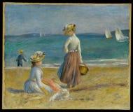 Auguste Renoir - Zahlen auf dem Strand stockbilder