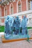Auguste Roden. Les borgare de Calais Arkivfoto
