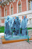Auguste Roden. Les Bourgeois de Calais. (Citizens of Calais). A culpture exhibited near the Big Palace in Tsaritsyno park, Moscow, Russia. Taken on September Stock Photo