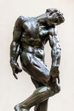 Auguste Rodin Bronze statue, Adam Royalty Free Stock Photo