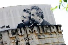 Auguste y Louis Lumiere Fotos de archivo