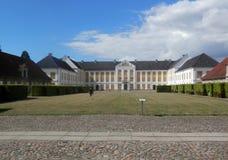 Augustenborgpaleis in Zuidelijk Denemarken Royalty-vrije Stock Foto