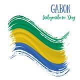 17 Augusti, Gabon självständighetsdagenbakgrund Royaltyfria Foton