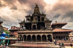 Augusti 18, 2014 - hinduisk tempel i Patan, Nepal Arkivbilder