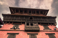 Augusti 18, 2014 - hinduisk tempel i Patan, Nepal Arkivfoto