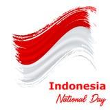 17 Augusti, Indonesien självständighetsdagenbakgrund Royaltyfri Bild